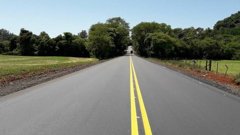 O segmento de 22 km entre Casca e Vila Maria, tem o investimento de cerca de R$ 17 milhões.